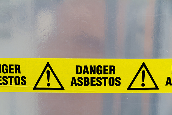 Danger - Asbestos removal sign