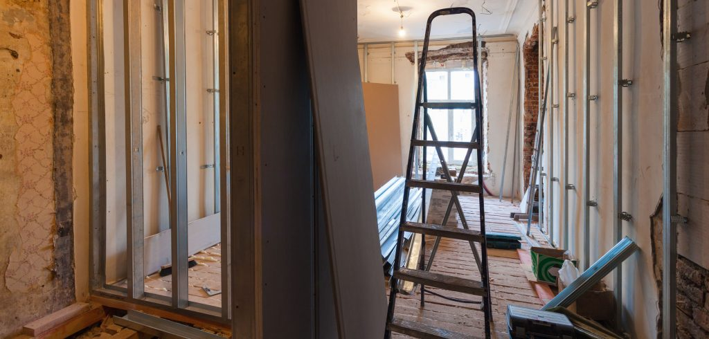 Interior of a home being remodeled