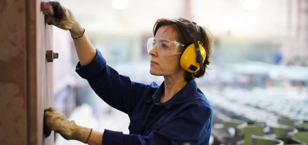 Woman Working at Factory