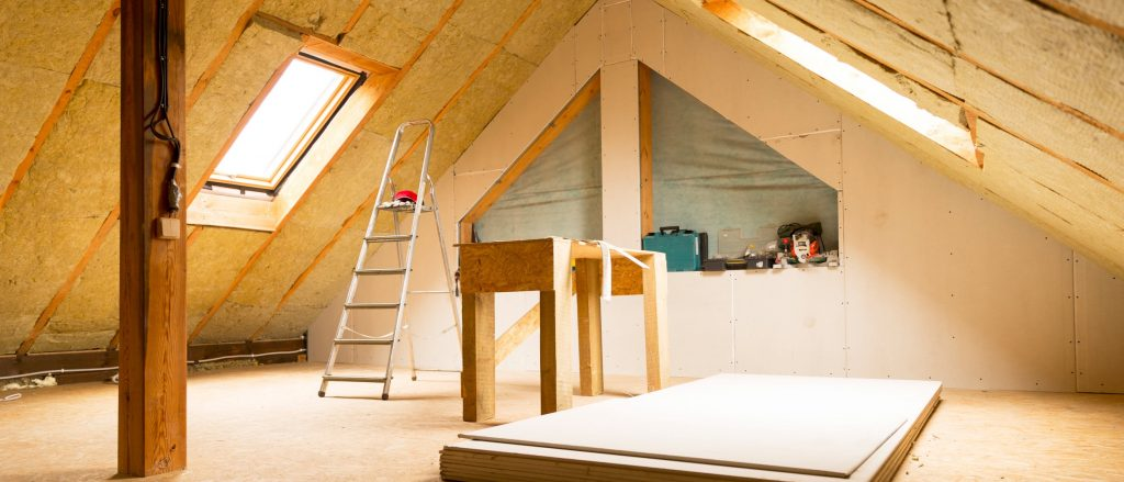 Attic with Ceiling Insulation